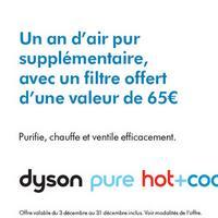 Bon Plan Dyson : Filtre pour Purificateur d'air Offert
