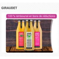 Offre de Remboursement Giraudet : Soupe Fraîche 100% Remboursé en 3 Bons