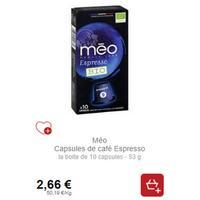 Capsules de Café Méo Bio partout (18/11 – 23/12)