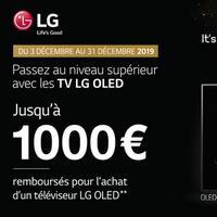 Offre de Remboursement LG : Jusqu'à 1000€ sur Téléviseur OLED
