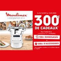 Offre de Remboursement Moulinex : 100€ Remboursés + 200€ de Cadeaux Offerts