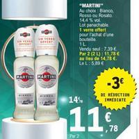 Apéritif Martini chez Leclerc (10/12 – 21/12)