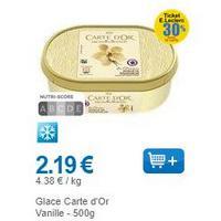 Bac de Glace Carte d'Or chez Leclerc (03/12 – 14/12)