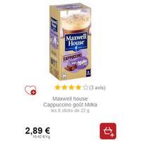 Maxwell House Cappuccino Goût Milka chez Intermarché (01/12 – 31/12)