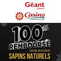 Casino et Géant Casino : Sapin Naturel 100% Remboursé en BA