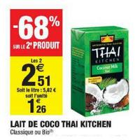 Lait de Coco Thaï Kitchen chez Carrefour Market (10/12 – 24/12)
