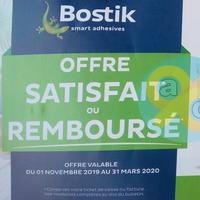 Offre de Remboursement Bostik : Cartouche Purefix Satisfait ou 100% Remboursé