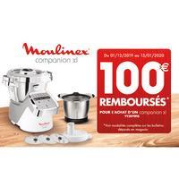 Offre de Remboursement Moulinex : 100€ Remboursés sur Companion XL