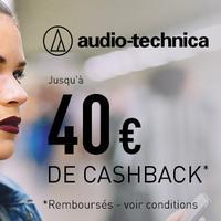 Offre de Remboursement audio-technica : Jusqu'à 40€ Remboursés