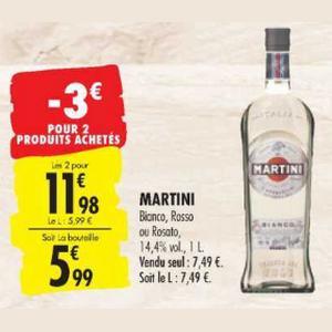 Apéritif Martini chez Carrefour (19/11 – 02/12)