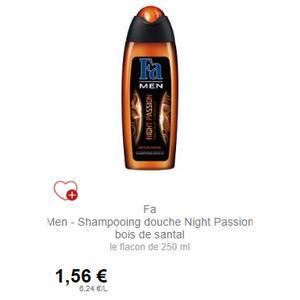 Shampooing-Douche Night Passion Fa Men chez Intermarché (01/12 – 31/12)