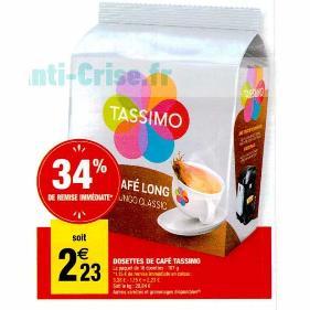 Capsules Tassimo chez Carrefour Market (27/12 – 05/01)