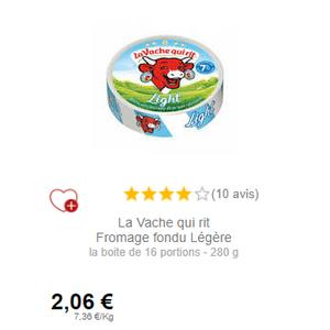 Boîte de Vache Qui Rit Légère chez Intermarché (01/12 – 31/12)