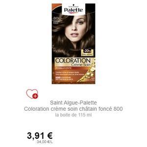 Coloration Palette Châtain Foncé 800 Schwarzkopf chez Intermarché (01/12 – 31/12)
