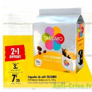 Capsules Tassimo chez Carrefour (30/12 – 06/01)