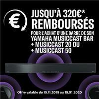 Offre de Remboursement Yamaha : Jusqu'à 320€ Remboursés sur Barre de Son
