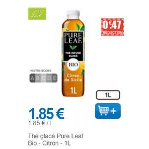Thé Glacé au Citron Pure Leaf chez Leclerc (01/12 – 31/12)