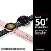 Offre de Remboursement Samsung : Jusqu'à 50€ Remboursés sur Galaxy Watch Active2