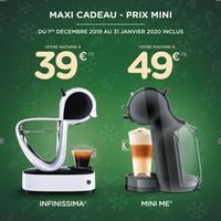 Offre de Remboursement Krups : Machine Dolce Gusto Infinissima à 39€ ou Mini Me à 49€