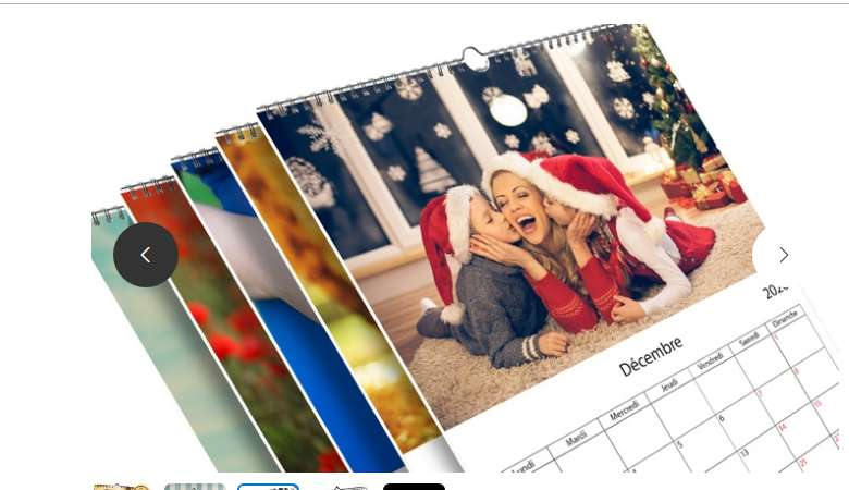 Calendriers photos PrinterPix pas chers à partir de 3.99€