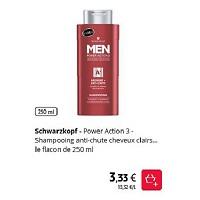 Shampoing Anti-Chute Men Schwarzkopf chez Intermarché (01/12 – 31/12)