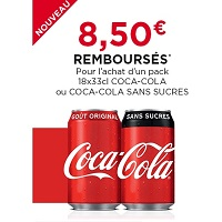 Offre de Remboursement Coca-Cola : 8,50€ Remboursés sur un Pack 18x33cl