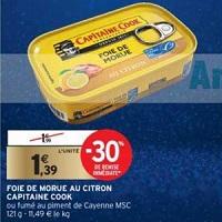 Foie de Morue au Piment de Cayenne Capitaine Cook chez Intermarché (10/12 – 15/12)
