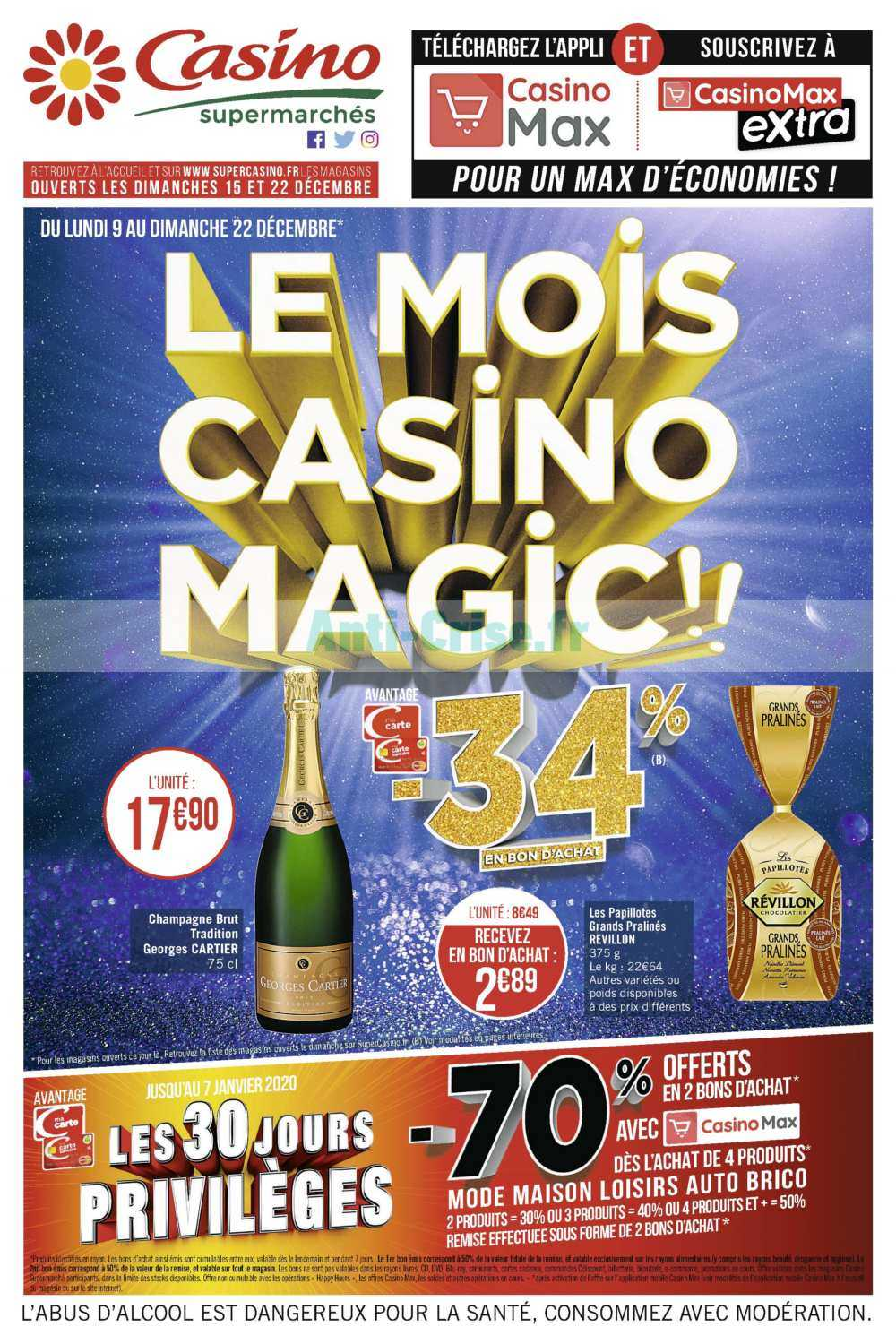 Catalogue Casino du 09 au 22 décembre 2019