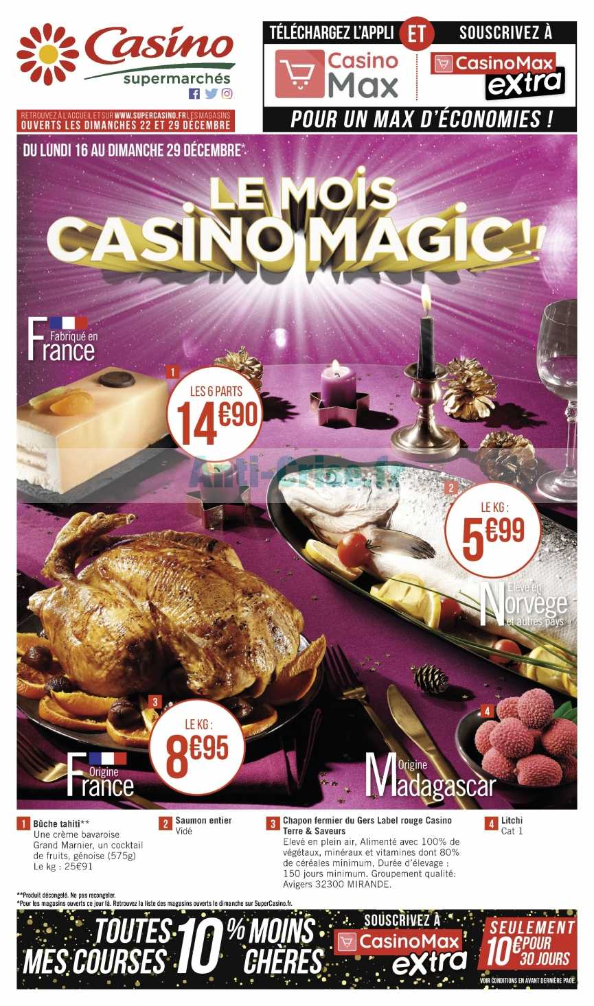 Catalogue Casino du 16 au 29 décembre 2019