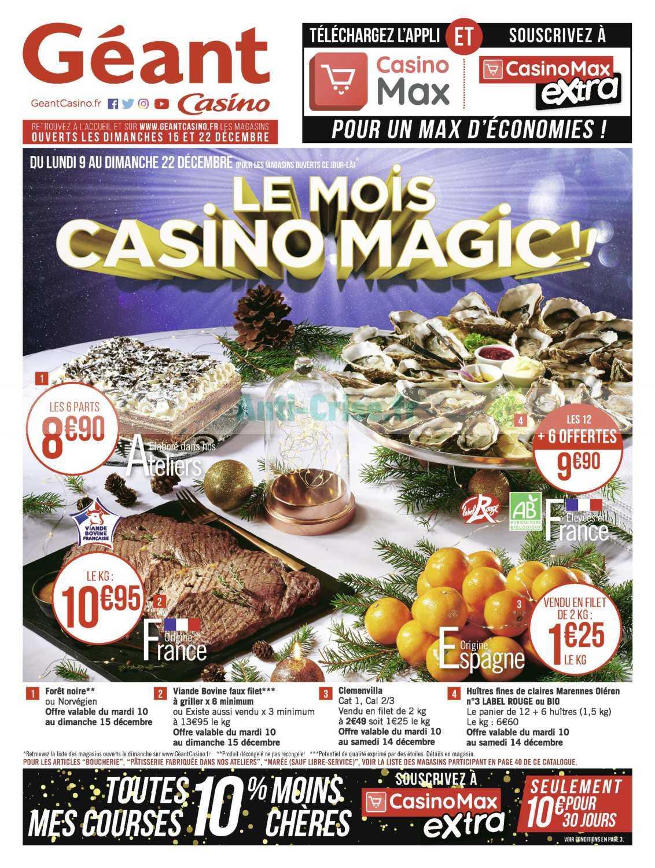 Catalogue Géant Casino du 09 au 22 décembre 2019