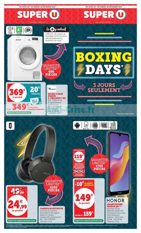 Catalogue Super U du 26 au 28 décembre 20