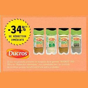 Epices Bio Ducros chez Leclerc (03/12 – 14/12)