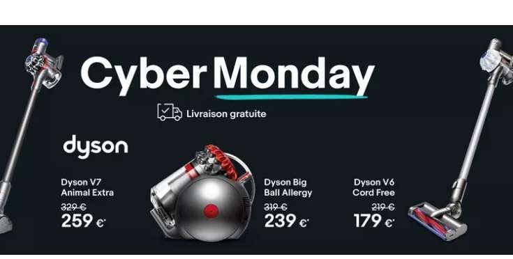 Vente flash aspirateurs DYSON sur Ebay (vendus par Dyson)