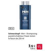 Shampoing Fraicheur Men Schwarzkopf chez Intermarché (01/12 – 31/12)
