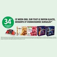Intermarché : 34% de Remise Fidélité sur tout le Rayon Glaces, Desserts et Viennoiseries Surgelés chez Intermarché (14/12 – 15/12)
