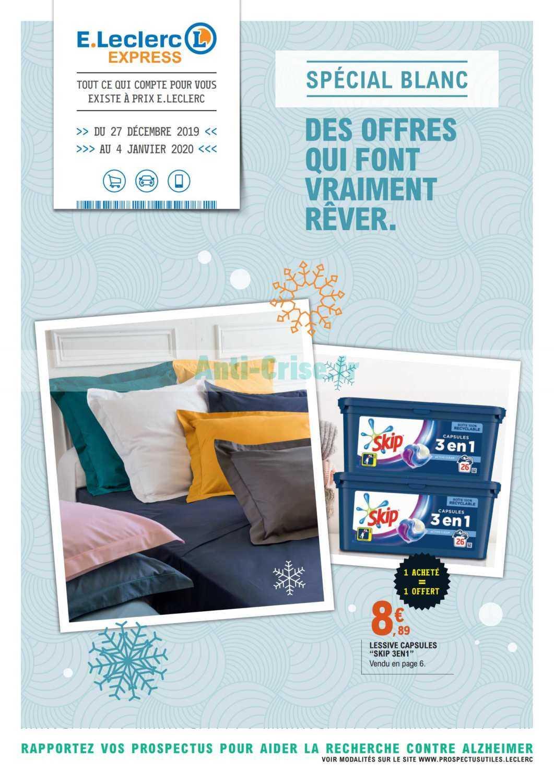 Leclerc Le Nouveau Catalogue Du 27 Decembre 2019 Au 04 Janvier 2020 Est Disponible Que Vous Reserve Le Dernier Catalogue
