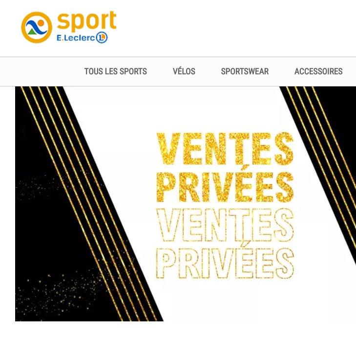 Vente privée E . Leclerc Sport : 40% de réduction