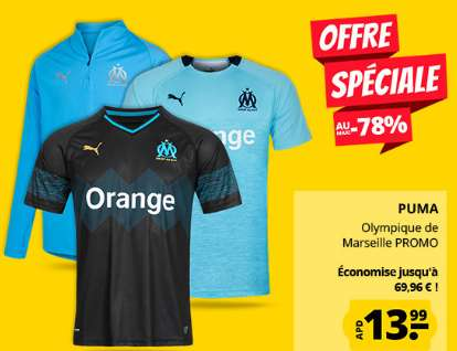 Vente flash vetements OLYMPIQUE DE MARSEILLE