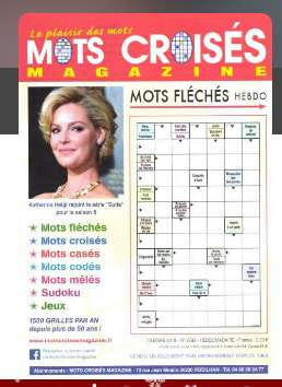 14€ l'abonnement à 13 numéros de MOTS CROISES MAGAZINE