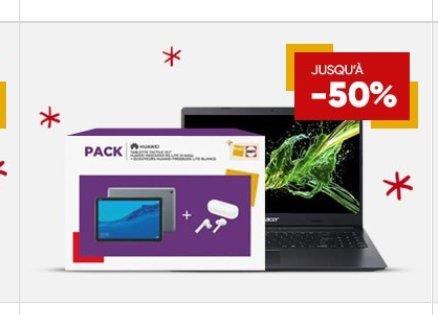 Promo PC PORTABLE + Tablette sur la FNAC