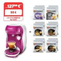 55€ la machine TASSIMO HAPPY + 12 paquets de Tdiscs