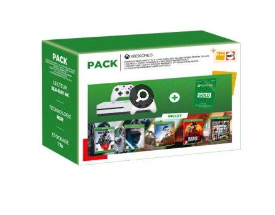 249€ la console XBOX ONE + 5 jeux + 2 manettes + 3 mois xbox live