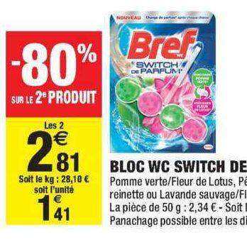 Bloc Wc Switch de Parfum Bref chez Carrefour Market (21/01 – 02/02)