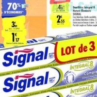 Dentifrice Intégral 8 Signal chez Carrefour (07/01 – 20/01)