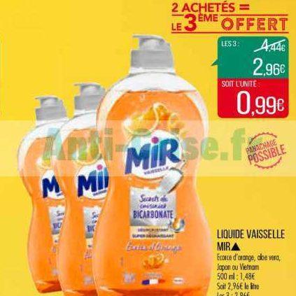 Liquide Vaisselle Mir chez Match (21/01 – 02/02)