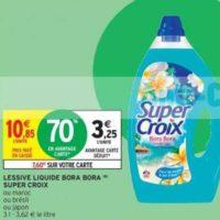 Lessive Liquide Super Croix Bora Bora chez Intermarché (21/01 – 02/02)