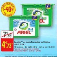 Lessive en Capsules Ariel chez G20 (15/01 – 26/01)