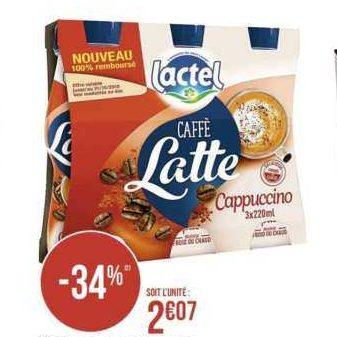 Boisson Caffé Latte Lactel chez Casino (13/01 – 26/01)