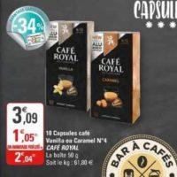 Café en Capsules Vanilla Café Royal chez G20 (29/01 – 09/02)