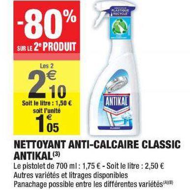 Nettoyant Ménager Antikal chez Carrefour Market (07/01 – 12/01)